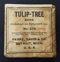 c1910 antique UNUSED quack medicine TULIP-TREE BARK parke davis RHEUMATI... - $47.50