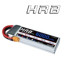 HRB 3S 11.1V 6000mAh 50C RC LiPo Battery Pack with XT60 plug For RC Heli... - $60.31