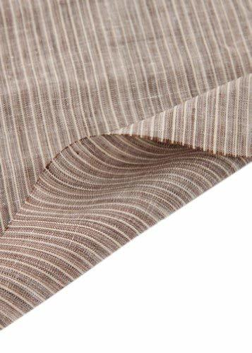 55'' Wide Home Linen Fabrics Striped Flax Fabric Coffee (17.5 55 Inches)