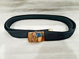 Vintage USN E7 Chief Petty Officer Dress Blue Belt with Brass Buckle - $24.95