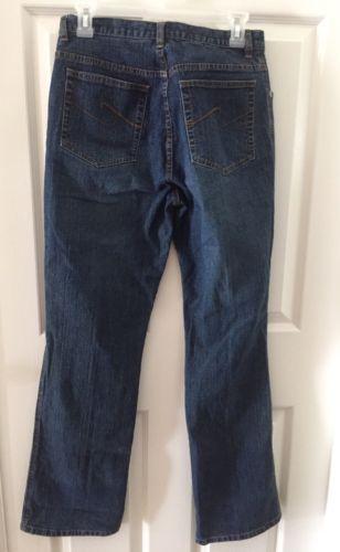 ** CHICO'S ** Denim Classic Blue Jeans Black Label Boot Cut Size 0