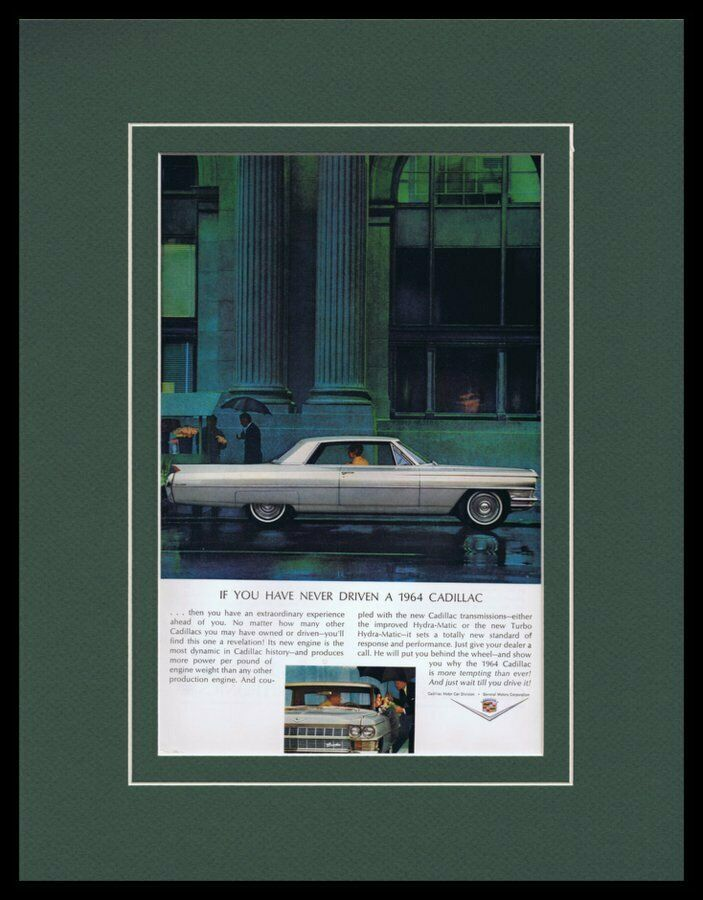 Primary image for 1964 Cadillac Hydra-Matic Framed 11x14 ORIGINAL Vintage Advertisement