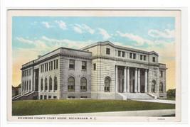 Court House Rockingham North Carolina 1920c postcard - $6.44