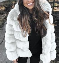 Women's thick Faux Fur Fox Fur Hooded Coat image 6