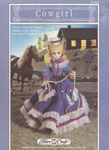 Cowgirl, Fibre Craft Crochet Doll Clothes Pattern Booklet FCM239 - $2.95