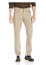 Lee Men's Weekend Chino Straight Fit Flat Front Pant 42X32 - $22.79