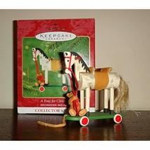 Hallmark Keepsake Ornament A Pony for Christmas 3rd in Series 2000 - $16.96