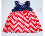 BONNIE BABY NWT BABY GIRLS 24M PATRIOTIC DRESS FOURTH OF JULY RED WHITE BUE NEW