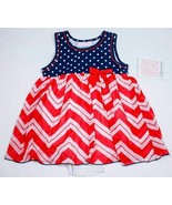 BONNIE BABY NWT BABY GIRLS 24M PATRIOTIC DRESS FOURTH OF JULY RED WHITE ... - $15.83