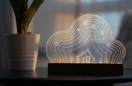 Mooas USB Wired Acryl LED Cloud Night Mood Lights Lighting Lamp Indoor Interior image 5