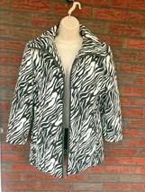 Vintage 38 Zip Front Jacket Black White Shoulder Pads Pockets US 6 Betty... - $19.60