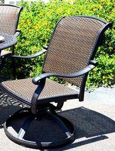 Cast aluminum wicker furniture 7 piece dining set Santa Clara outdoor patio image 4