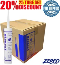LOT SALE Zered™ BioSeal Silicone Sealant Ge neral Purpose 10.1oz - Clear... - $84.99
