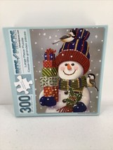 Bits And Pieces Snowman With Presents Puzzle 300 Large Piece - $8.59