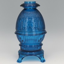 Vintage Viking Bluenique Glass Pot Bellied Stove Glimmer Fairy Light image 1