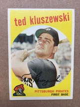 1959 Topps #35 Ted Kluszewski Baseball Card EX Condition Pittsburgh Pira... - $6.99