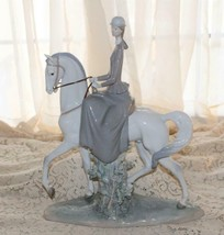 "Large Lladro WOMAN ON HORSE Equestrian #4516 Beautiful Figurine 17 3/4"" ... - $720.00"