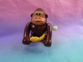 Vintage 70's Tomy Plastic Wind Up Toy Monkey w/ Banana - as is - not wor... - $3.91