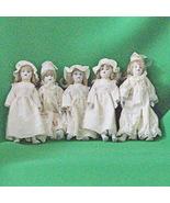 "Set Of 5 Small (8"") Dolls, Ceramic Head, Hands, And Feet, Stuffed Cloth ... - $14.95"