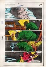 Original 1984 Captain America 295 Marvel color guide art pg:Red Skull/Baron Zemo - $99.50