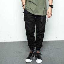 Warm Black Feet Cargo Pants For Men Casual Jogger Hip Hop Sweatpants Trousers    - $58.89