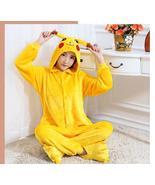 New Adult Yellow Picachu Cosplay  Costume Onesie Hooded Pyjamas Animal S... - $28.99