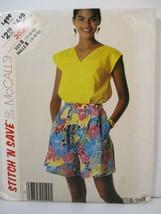McCall's Stitch 'n Save 3039 Miss Size B 12-14-16 Top Culottes Uncut 198... - $12.86