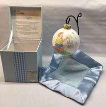 Little Star White Cute As A Button Hand Painted Glass Ornament Newborn B... - $7.71