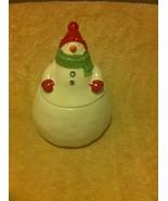 HALLMARK--SNOWMAN-- CANDY / COOKIE JAR--FREE SHIP-VGC - $26.98