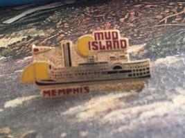 Mud Island Memphis Pin Pinback Steamboat Paddle boat - $9.49