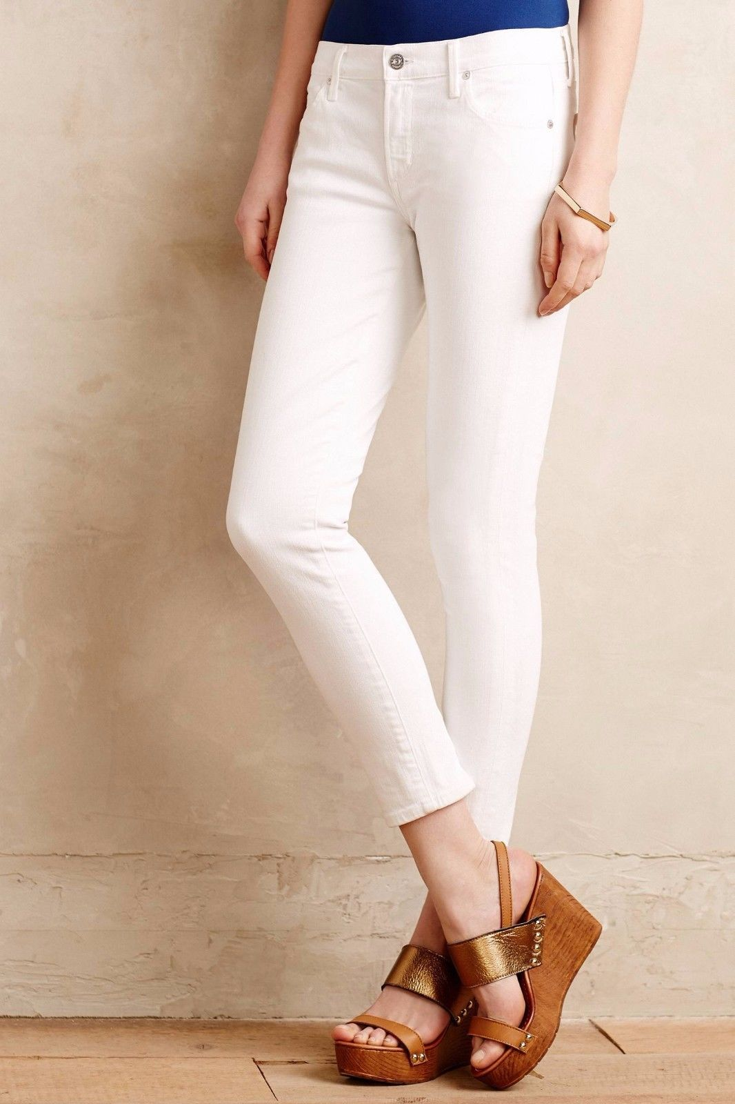 Primary image for NWT CITIZENS of HUMANITY AVEDON ULTRA SKINNY OPTIC WHITE ANKLE JEANS 30