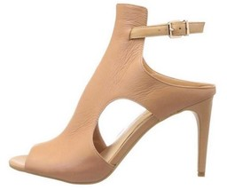 Women's Shoes Jessica Simpson MANALI Shootie Peeptoe Heels Leather Natural - $62.99