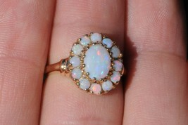 Vintage (ca. 1950) 10K Yellow Gold Natural Opal Cluster Ring (Size 6 1/8) - $315.00