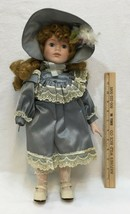 Dynasty Collection Doll Porcelain - missing right hand - Gray Satin Dress - $17.86