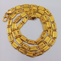 22K GOLD HANDMADE CHAIN NECKLACE STRAND FINE JEWELRY NAWABI DESIGN CUSTOM  - $1,503.52