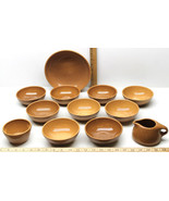 "12 pc Iroquois Casual China Russel Wright Apricot 8.5"" & 5"" Bowls+Creame... - £88.16 GBP"