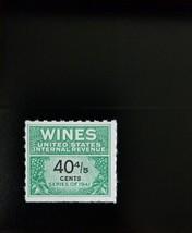 1951-54 40 4/5c U.S. Internal Revenue Cordial & Wine, Green Scott RE190 ... - $5.34