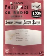 Sams Photofact CB Radio CB-139 September 1977 - $5.00