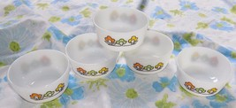 VTG 1960's LOT 5 Fire King Summerfield Floral C... - $39.95