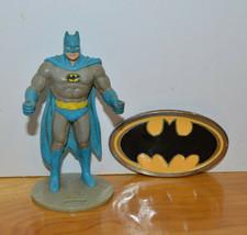 VINTAGE BATMAN FIGURINE CUPHOLDER & BELT BUCKLE DC COMICS 1988 SUPER POWERS - $6.32