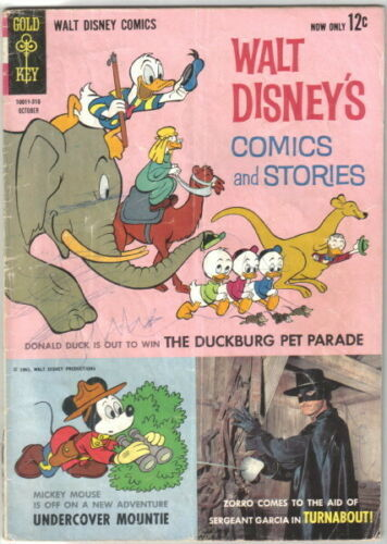 Walt Disney's Comics and Stories Comic Book #277 Gold Key 1963 VERY GOOD