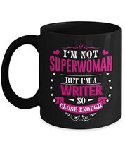 Writer Mug, Gifts For Famous Women Writers To Drink Coffee, 11 Oz Ceramic Black - $14.95