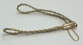 Hirsch Bijou Gold Cord Loop End Watch Band Ladies Vintage 1/40-10K.R.G.P.... - $37.00