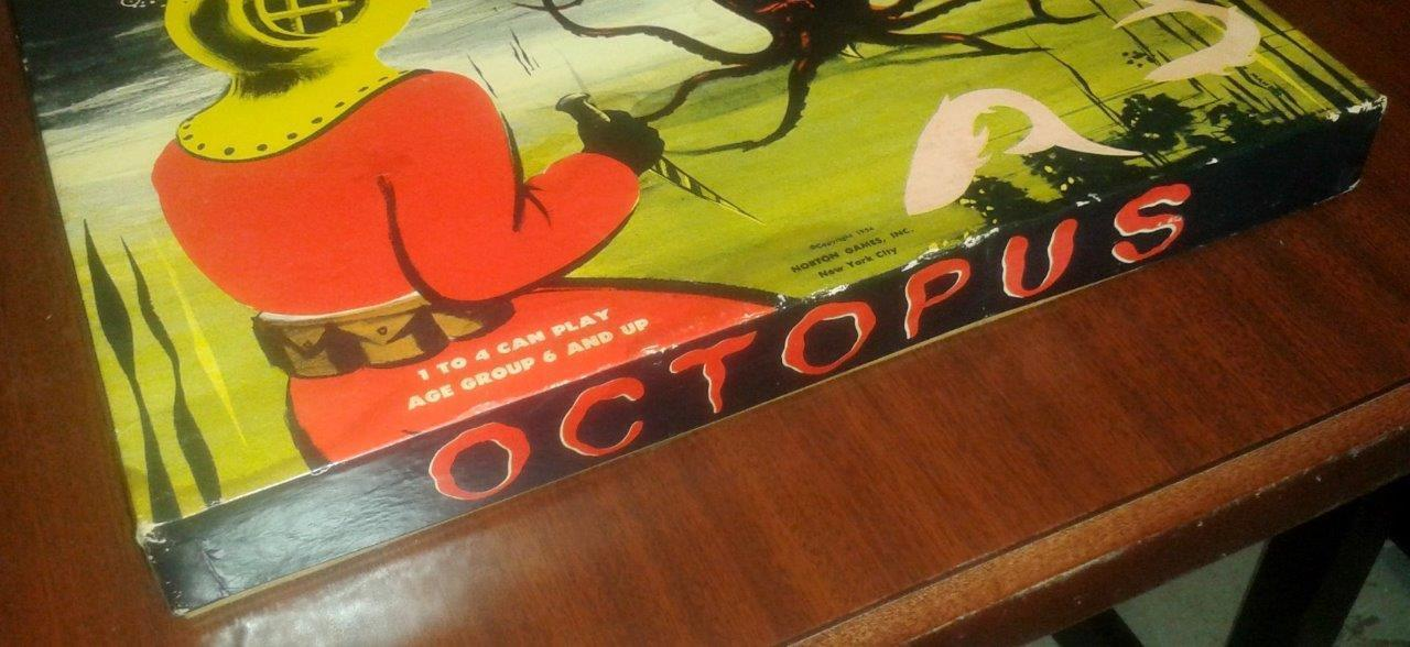 1954 Norton Games- Octopus Board Game -Complete Beautiful Condition VERY RARE