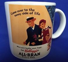 1984 Kelloggs All Bran Coffee Mug Come Over To The Sunny Side Of Life Vi... - $7.87