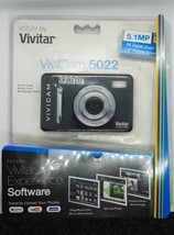 Vivitar ViviCam 5022 5.1MP Digital Camera - Black - $8.91