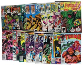 Lot Of 17 Vtg 80s Fantastic Four & The Thing Comic Books Classic Marvel Bagged - $56.09