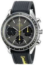 Omega Men's O32632405006001 Speedmaster Racing Automatic Black Rubber Watch - $6,110.00