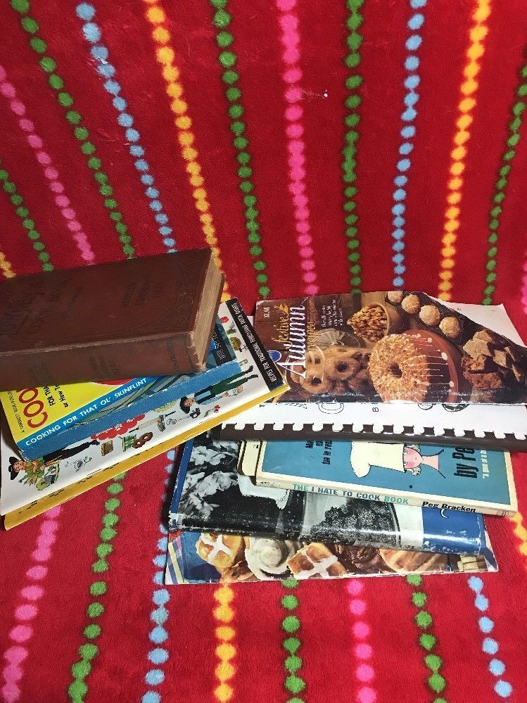 Primary image for Lot of 10 Vintage Cook Books - various conditions, various authors