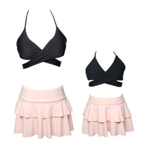 Family Matching Swimwear Mother Girl Pretty Flounce Skirt Bottom Bikini Set - $28.88
